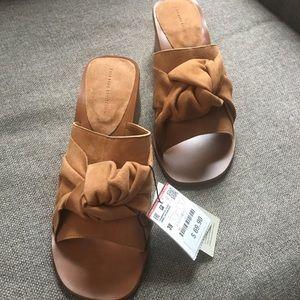 Zara open toed mules